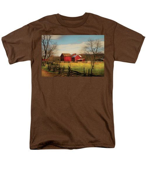 Farm - Barn - Just up the path T-Shirt by Mike Savad