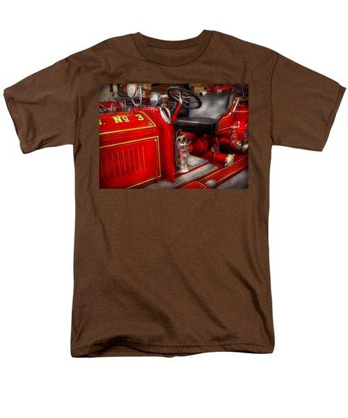 Fireman - Fire Engine No 3 T-Shirt by Mike Savad