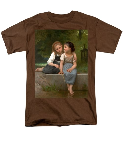 Fishing For Frogs Watercolor Version T-Shirt by William Bouguereau