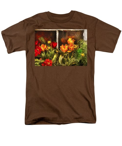 Flower - Tulip - Tulips in a window T-Shirt by Mike Savad
