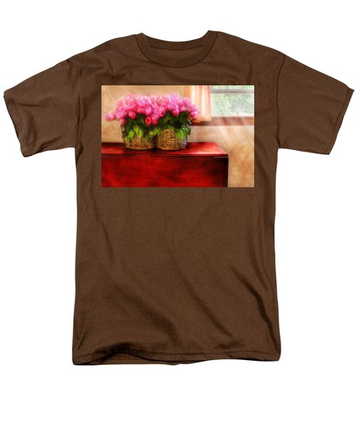 Flower - Tulips by a Window T-Shirt by Mike Savad