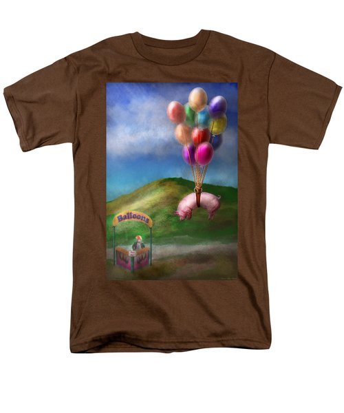 Flying Pig - Child - How I wish I were a bird T-Shirt by Mike Savad