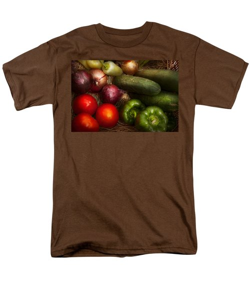 Food - Vegetables - Onions Tomatoes Peppers and Cucumbers T-Shirt by Mike Savad
