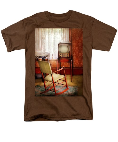 Furniture - Chair - The Invention of Television  T-Shirt by Mike Savad
