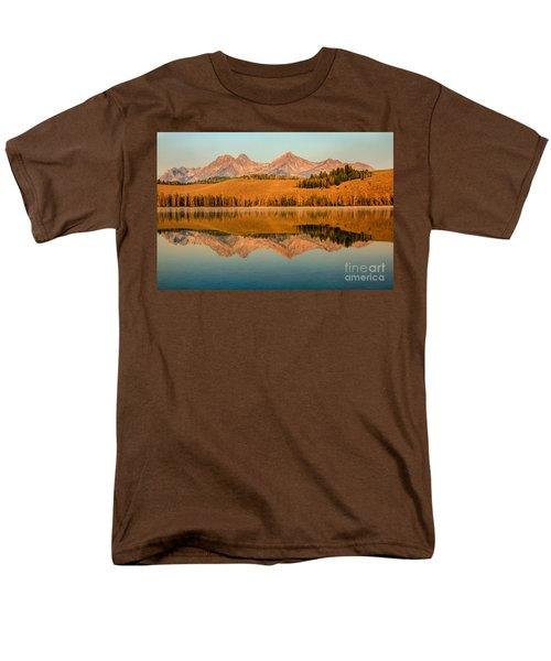 Golden Mountains  Reflection T-Shirt by Robert Bales