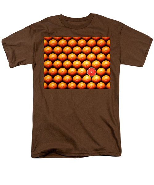 Grapefruit Slice Between Group Men's T-Shirt  (Regular Fit) by Johan Swanepoel