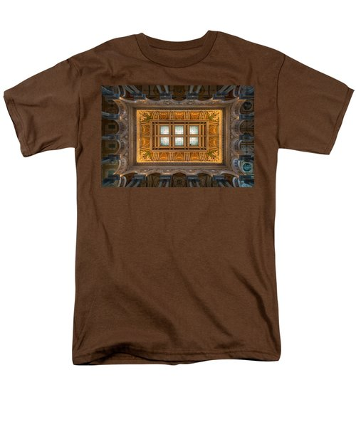 Great Hall Ceiling Library Of Congress T-Shirt by Steve Gadomski