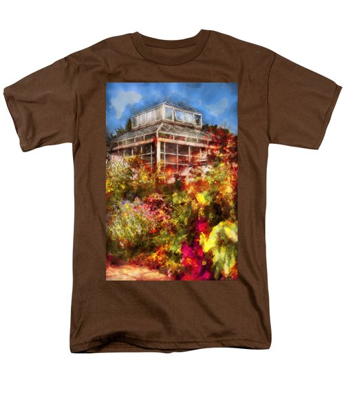 Greenhouse - The Greenhouse and the Garden T-Shirt by Mike Savad