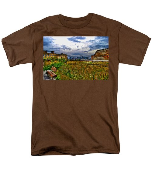 High Line on the Hudson T-Shirt by Randy Aveille