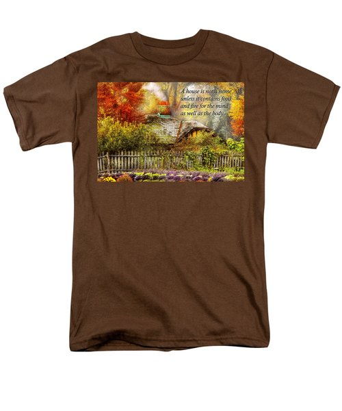Inspirational - Home is where it's warm inside - Ben Franklin T-Shirt by Mike Savad