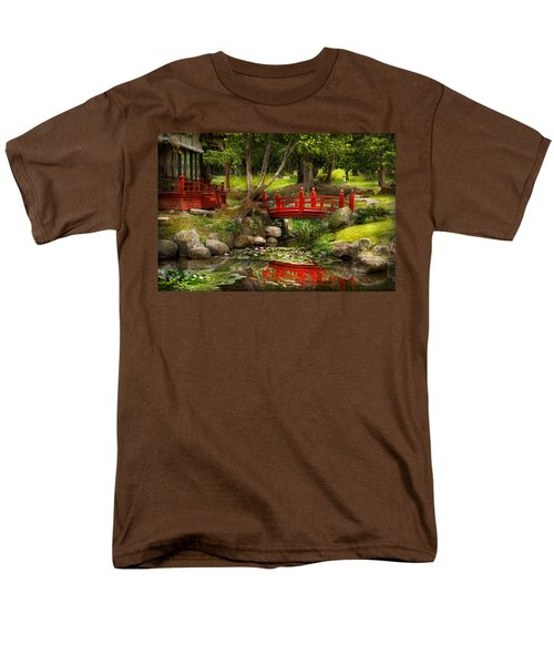 Japanese Garden - Meditation T-Shirt by Mike Savad