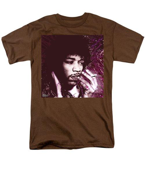 Jimi Hendrix Purple Haze Red T-Shirt by Tony Rubino