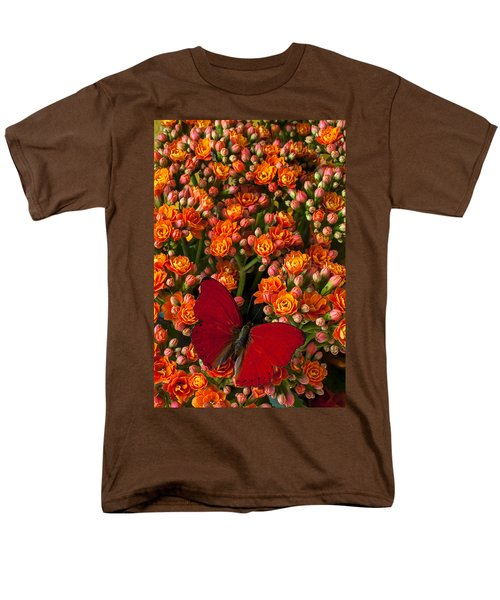 Kalanchoe plant with butterfly T-Shirt by Garry Gay