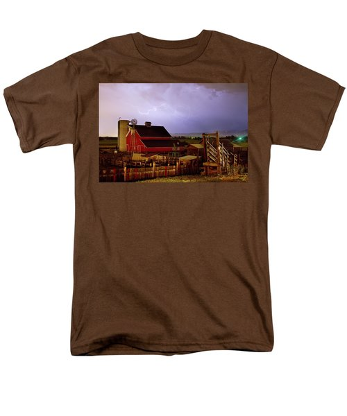 Lightning Strikes Over The Farm T-Shirt by James BO  Insogna