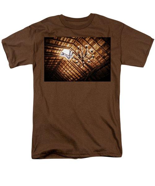 Log Cabin Chandelier  T-Shirt by Mountain Dreams