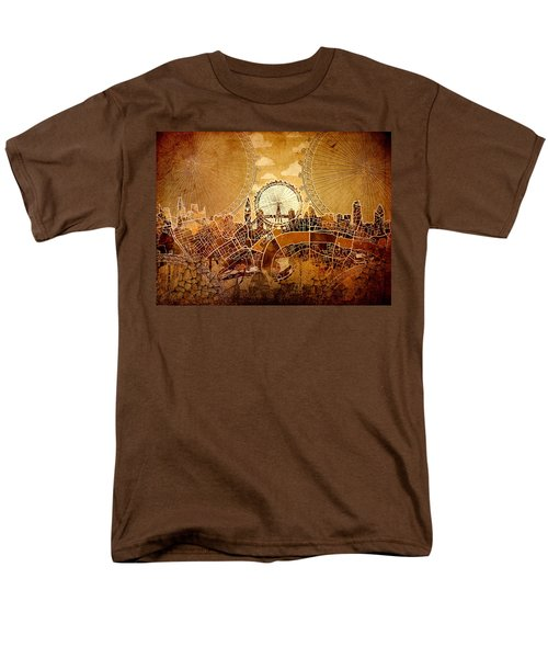 London Skyline Old Vintage  Men's T-Shirt  (Regular Fit) by Bekim Art