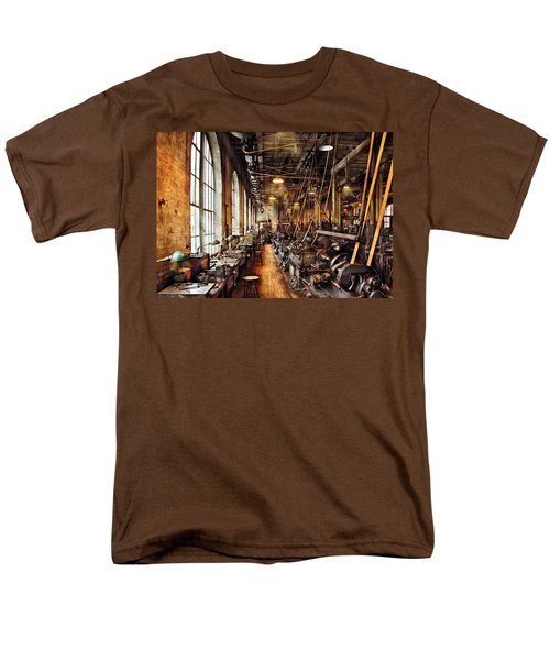 Machinist - Machine Shop Circa 1900's T-Shirt by Mike Savad