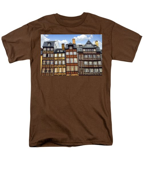 Medieval houses in Rennes T-Shirt by Elena Elisseeva