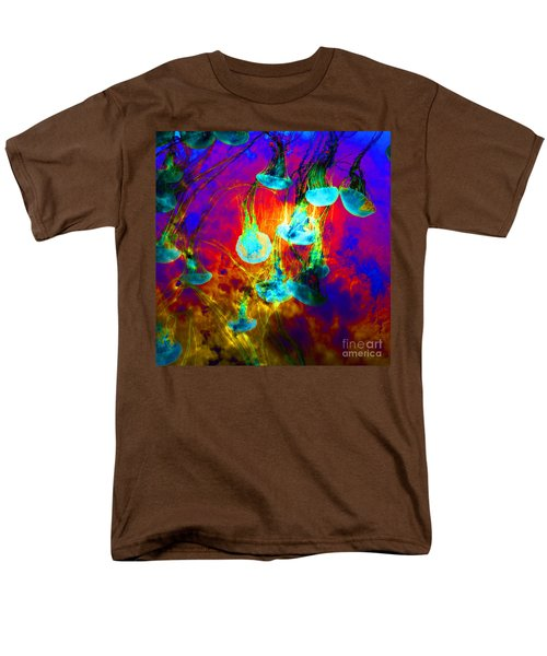 Medusas On Fire 5D24939 square T-Shirt by Wingsdomain Art and Photography