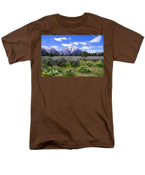 Mount Moran Wildflowers T-Shirt by Brian Harig