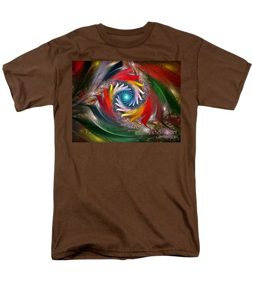My My Beautiful Laundrette-Fractal Art T-Shirt by Karin Kuhlmann