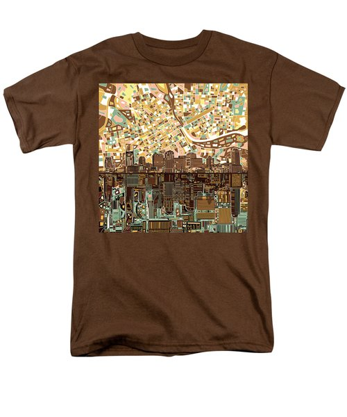 Nashville Skyline Abstract 4 Men's T-Shirt  (Regular Fit) by Bekim Art
