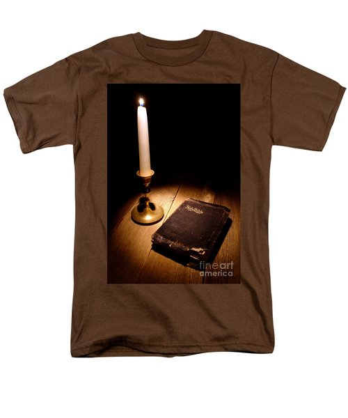 Old Bible and Candle T-Shirt by Olivier Le Queinec