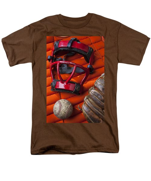Old catcher mask T-Shirt by Garry Gay