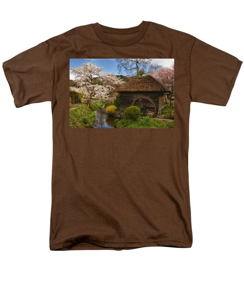 Old Cherry Blossom Water Mill T-Shirt by Sebastian Musial
