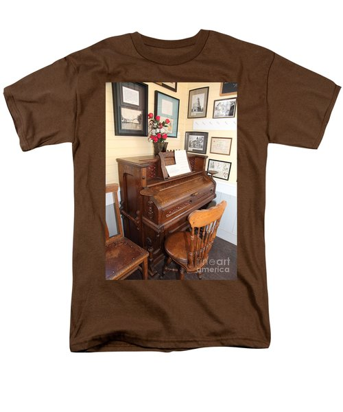 Old Sacramento California Schoolhouse Piano 5D25783 T-Shirt by Wingsdomain Art and Photography