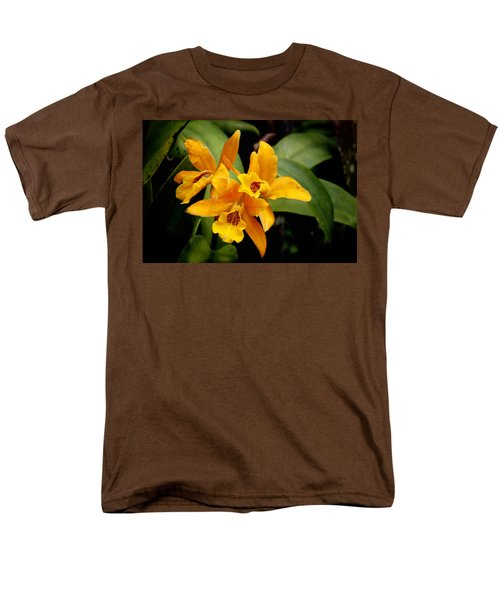 Orange Spotted Lip Cattleya orchid T-Shirt by Rudy Umans