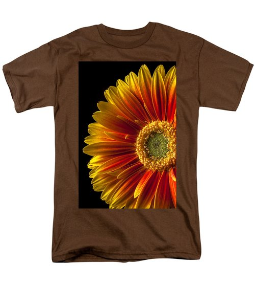 Orange yellow mum close up T-Shirt by Garry Gay
