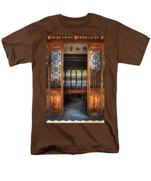 Orient - Door - The temple doors T-Shirt by Mike Savad