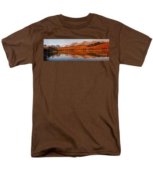 Panoramic Of Little Redfish Lake T-Shirt by Robert Bales