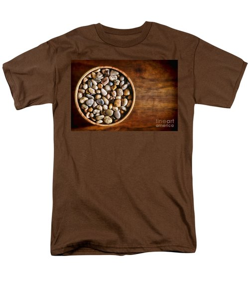 Pebbles in Wood Bowl T-Shirt by Olivier Le Queinec