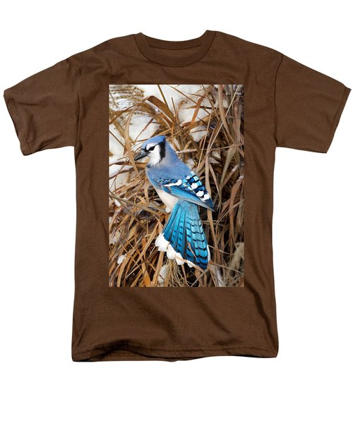 Portrait Of A Blue Jay Men's T-Shirt  (Regular Fit) by Bill Wakeley