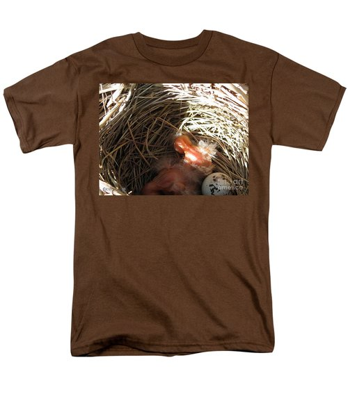 Red-winged Blackbird Babies and Egg T-Shirt by J McCombie