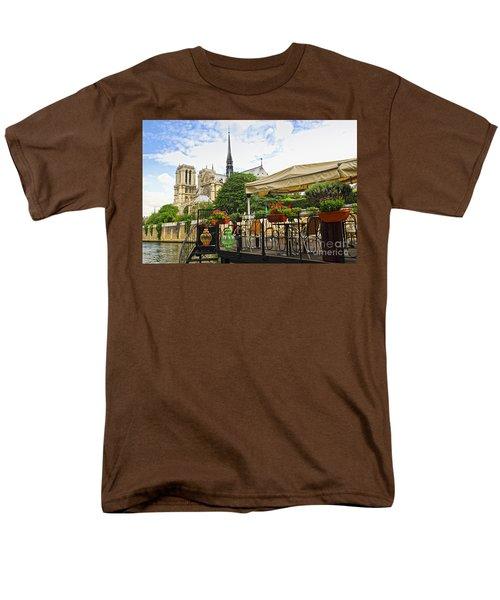 Restaurant on Seine T-Shirt by Elena Elisseeva