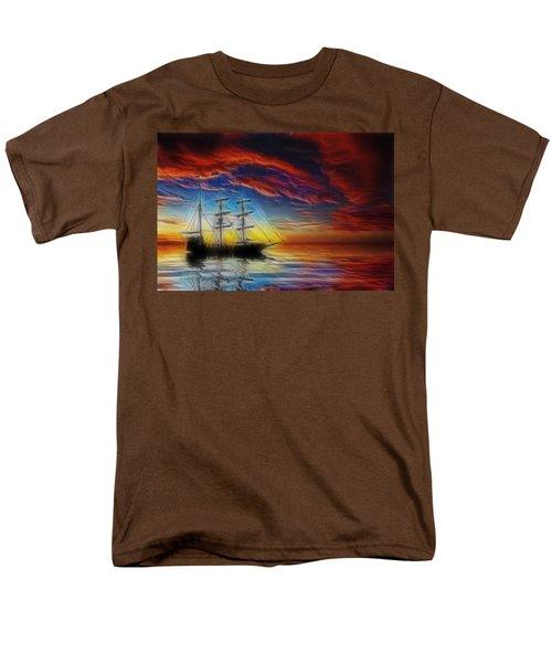 Sailboat Fractal T-Shirt by Shane Bechler