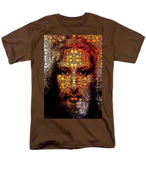 Savior - Stone Rock'd Jesus Art By Sharon Cummings T-Shirt by Sharon Cummings