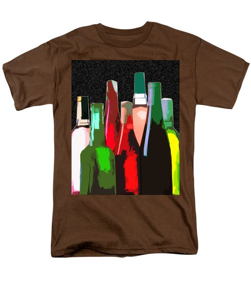 Seven Bottles of Wine on the Wall T-Shirt by Elaine Plesser