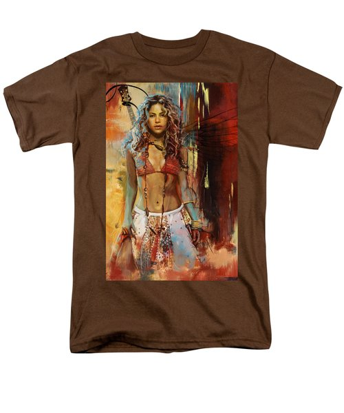 Shakira  Men's T-Shirt  (Regular Fit) by Corporate Art Task Force