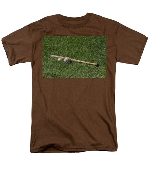 Softball Baseball And Bat Men's T-Shirt  (Regular Fit) by Bill Cannon