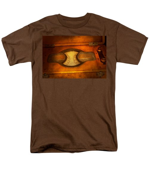 Steampunk - Electrician - The portable volt meter T-Shirt by Mike Savad