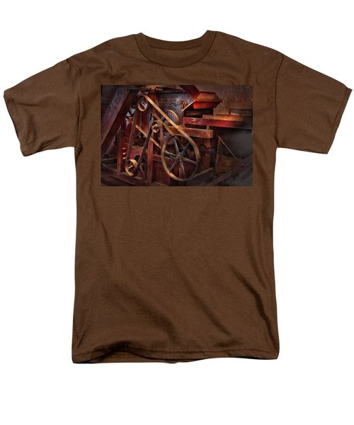 Steampunk - Gear - Belts and Wheels  T-Shirt by Mike Savad