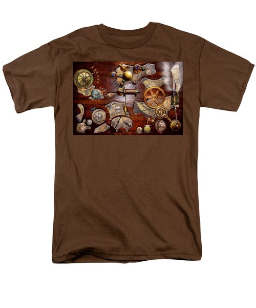 Steampunk - Gears - Reverse engineering T-Shirt by Mike Savad