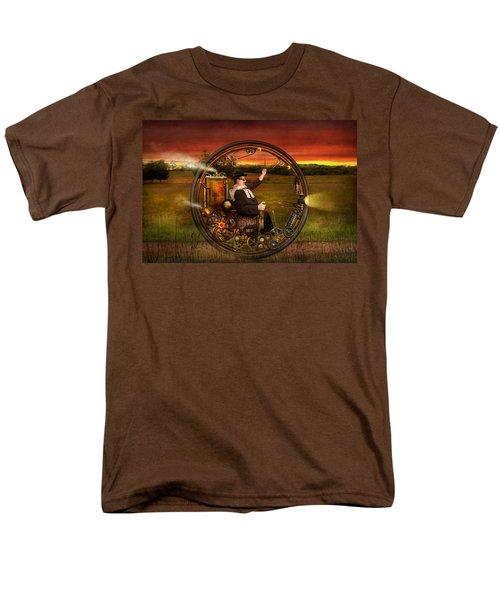 Steampunk - The gentleman's monowheel T-Shirt by Mike Savad
