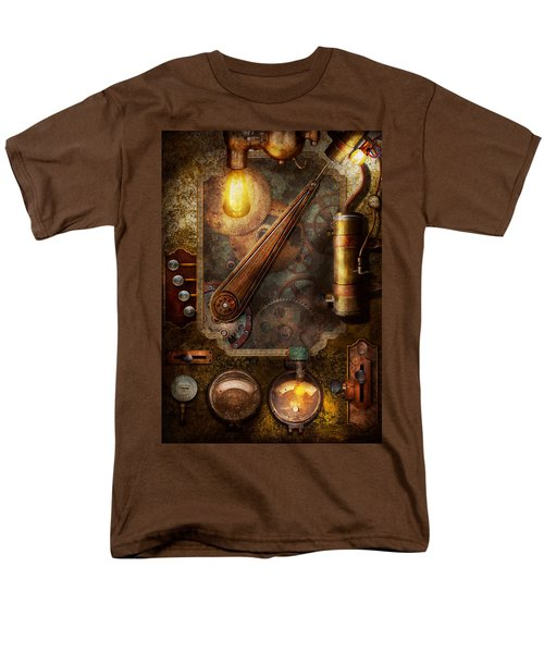 Steampunk - Victorian fuse box T-Shirt by Mike Savad