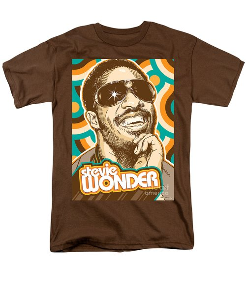 Stevie Wonder Pop Art Men's T-Shirt  (Regular Fit) by Jim Zahniser