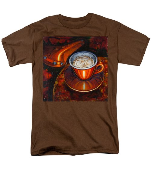 Still life with bicycle saddle T-Shirt by Mark Howard Jones